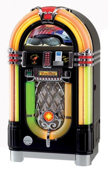 Wurlitzer One More Time OMT iPod and CD Jukebox - Black & Bose