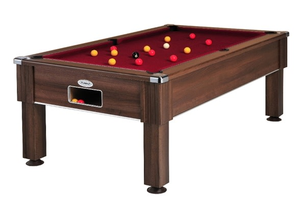 An image of Emirates Pool Table: Dark Walnut - 6ft, 7ft