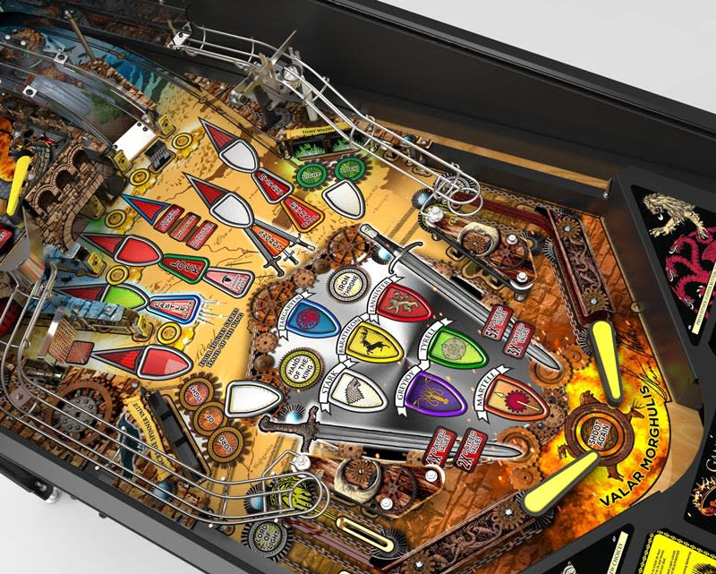 Stern Game of Thrones Pinball Machine Playfield with Missions