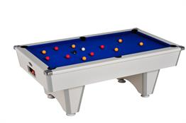Champion Pool Table: White - 6ft, 7ft