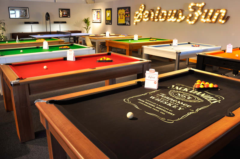 Pool Tables - Showroom