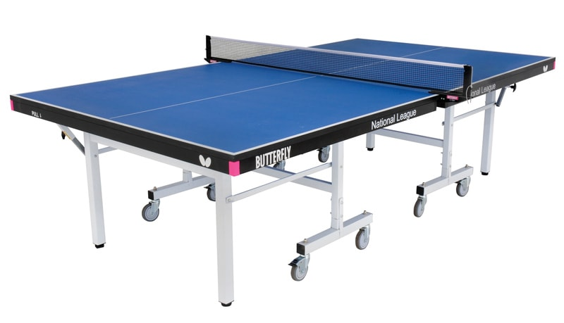 An image of Butterfly National League 25 Indoor Table Tennis Table - Blue |