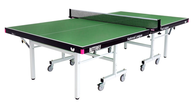 An image of Butterfly National League 25 Indoor Table Tennis Table - Green |