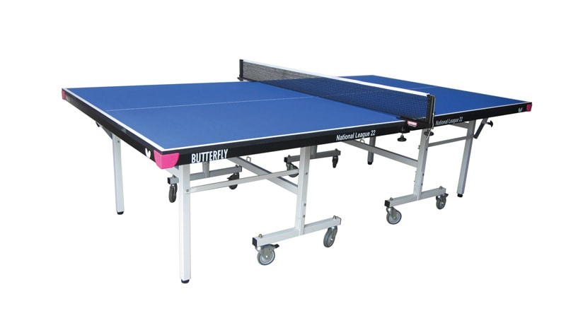 An image of Butterfly National League 22 Indoor Table Tennis Table - Blue.