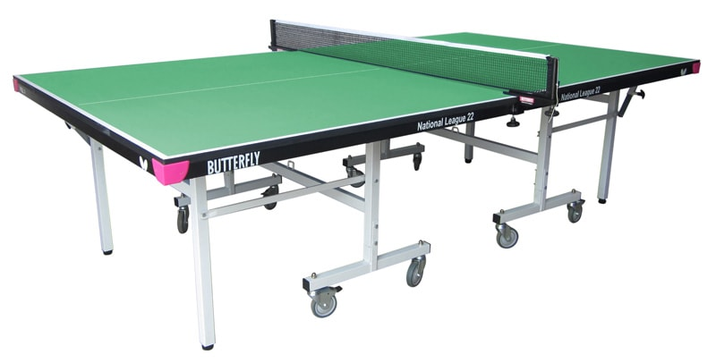 An image of Butterfly National League 22 Indoor Table Tennis Table - Green.