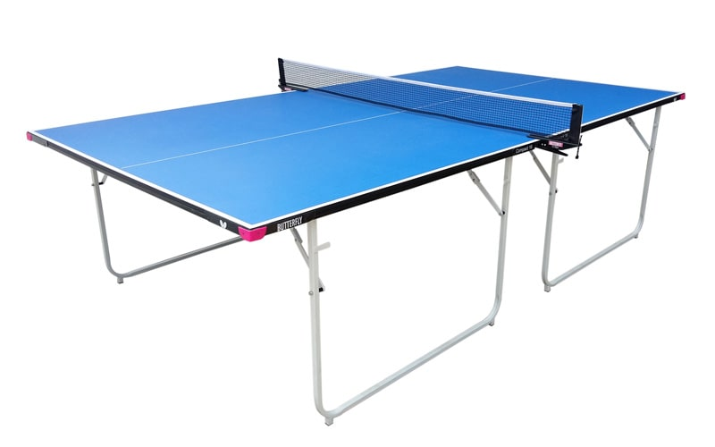 An image of Butterfly Compact Indoor 16 Table Tennis Table - Blue