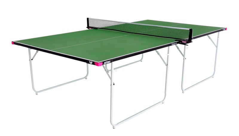 An image of Butterfly Compact Indoor 16 Table Tennis Table - Green