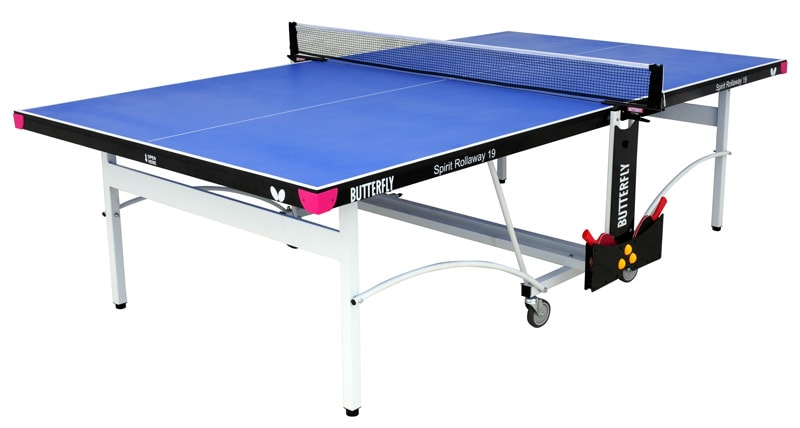 An image of Butterfly Spirit Indoor 19 Table Tennis Table - Blue