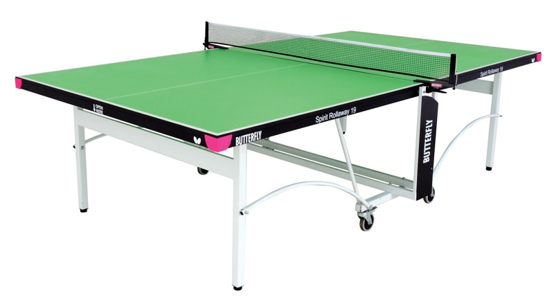 An image of Butterfly Spirit Indoor 19 Table Tennis Table - Green