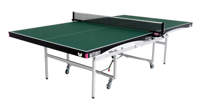 An image of Butterfly Space Saver Rollaway 22 Indoor Table Tennis Table - Green.