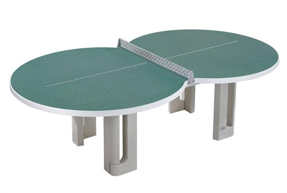 Butterfly Figure Eight Polymer Concrete Outdoor Table Tennis Table