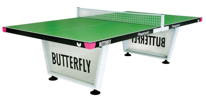 An image of Butterfly Playground Outdoor Table Tennis Table - Green |