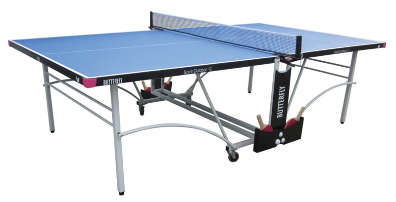 An image of Butterfly Spirit Outdoor 12 Table Tennis Table - Blue