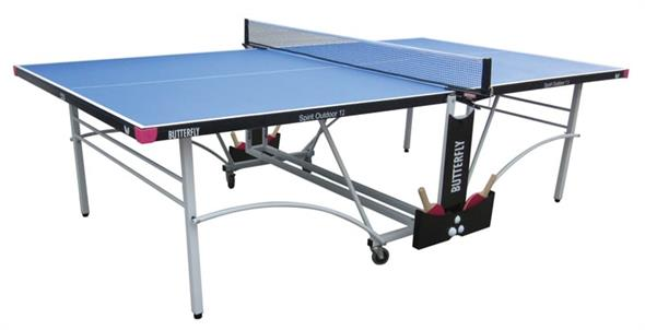Butterfly Spirit Outdoor 12 Table Tennis Table - Blue