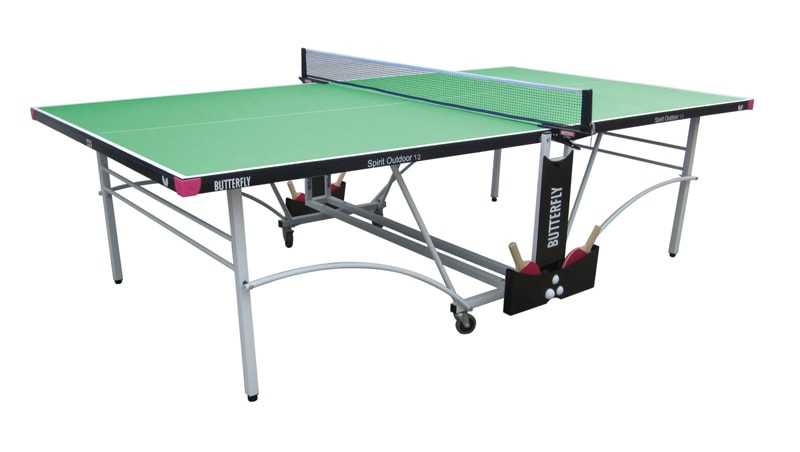 An image of Butterfly Spirit Outdoor 12 Table Tennis Table - Green