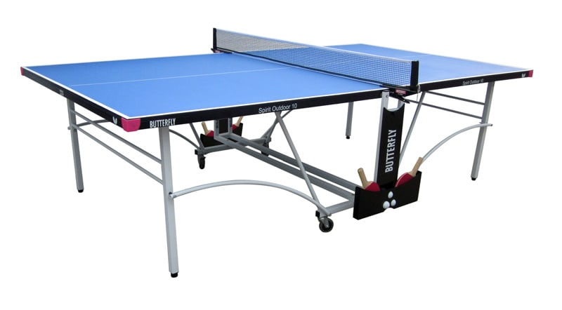 An image of Butterfly Spirit Outdoor 10 Table Tennis Table - Blue