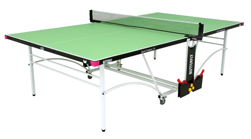 An image of Butterfly Spirit Outdoor 10 Table Tennis Table - Green