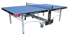 Butterfly Spirit Outdoor 18 Table Tennis Table - Blue
