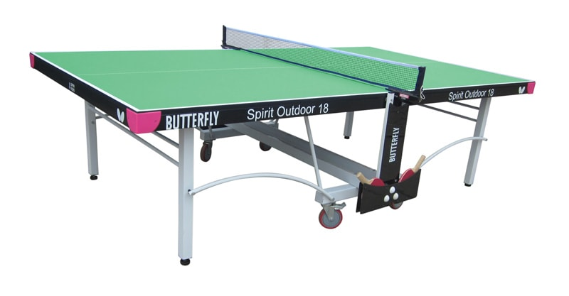 An image of Butterfly Spirit Outdoor 18 Table Tennis Table - Green