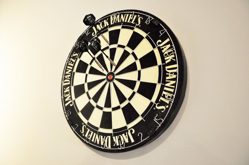 Jack Daniel's Dartboard and Darts