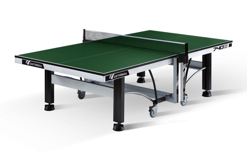An image of Cornilleau ITTF Competition 740 Indoor Table Tennis Table: Green