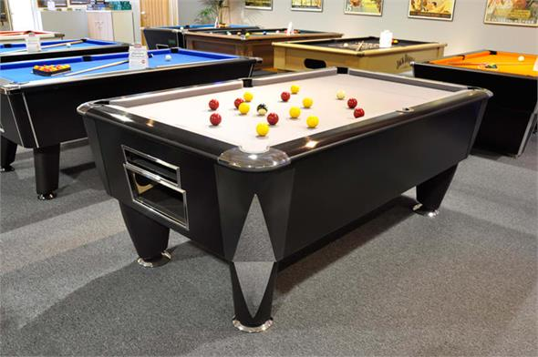 Sam Atlantic Champion BAPTO (Black Titanium) Pool Table - 6ft 7ft