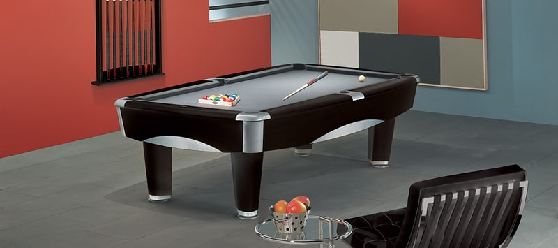 Brunswick Metro Pool Table in Black in Room