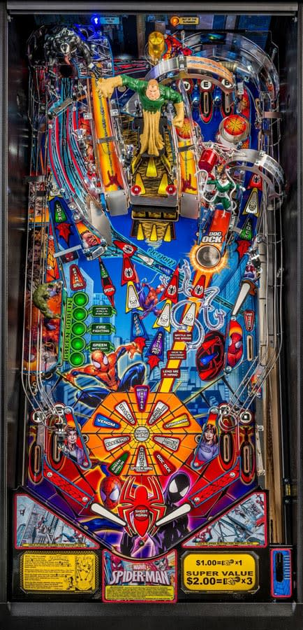 Spider-Man Vault Edition Pinball Machine - Playfield