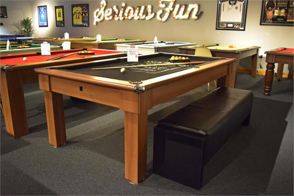 6ft Pool Table Bench - Black