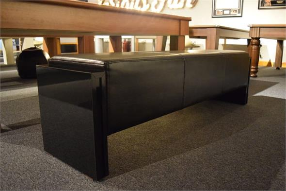 7ft Pool Table Bench - Black