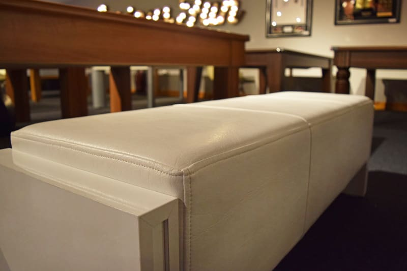 An image of 7ft Pool Table Bench - White