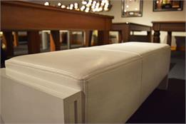 7ft Pool Table Bench - White