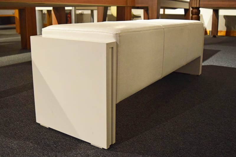 An image of 6ft Pool Table Bench - White