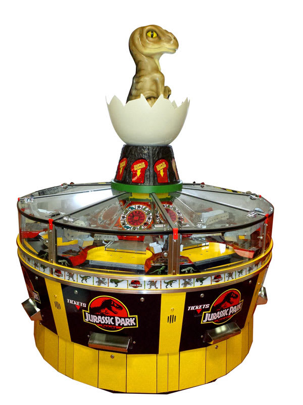 An image of Jurassic Park 8 Player Coin Pusher Machine