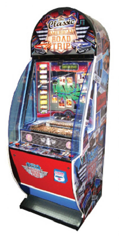An image of American Road Trip Coin Pusher Machine