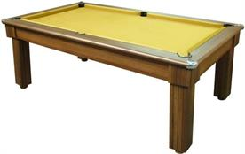 Florence Dark Walnut Pool Dining Table - 6ft, 7ft