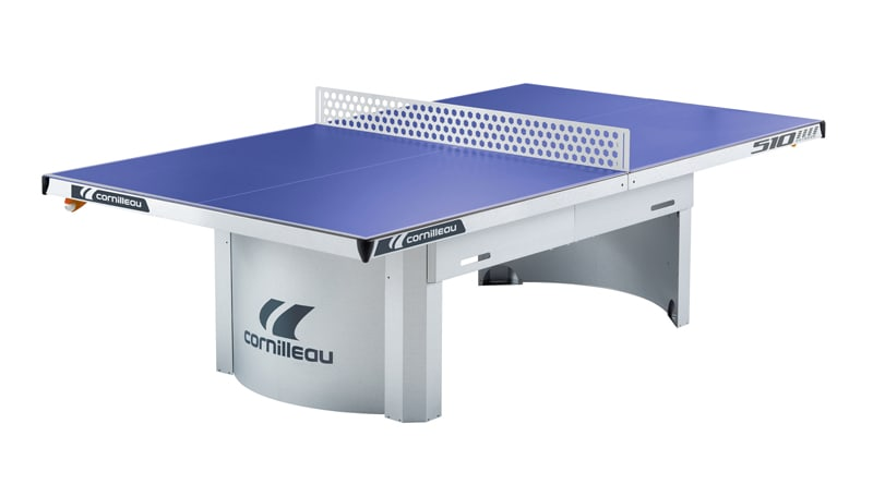 An image of Cornilleau Proline 510M Outdoor Static Table Tennis Table: Blue