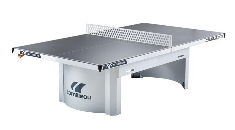 An image of Cornilleau Proline 510M Outdoor Static Table Tennis Table: Grey