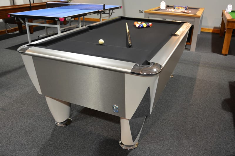An image of Sam Atlantic Champion BAPTO (Silver Titanium) Pool Table - 6ft 7ft