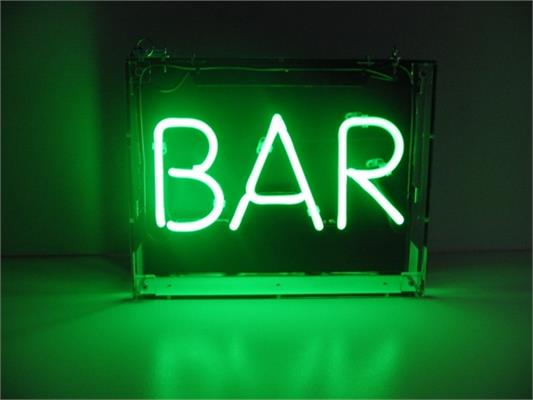 Neon 'Bar' Sign, 400x250mm