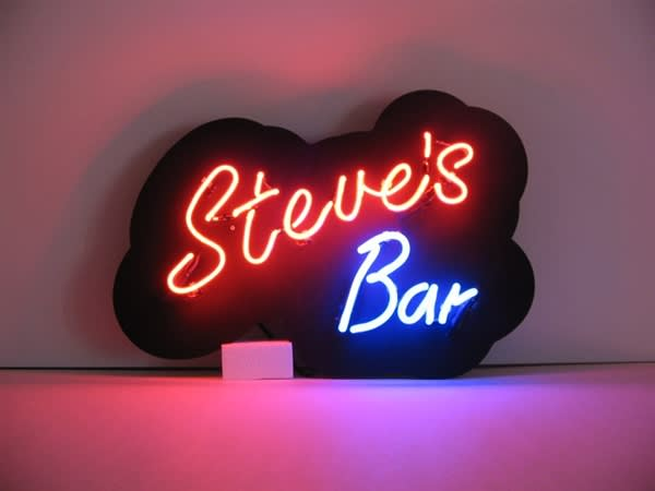 An image of XXX's Bar Neon Sign, 3 Letters, Acrylic Panel