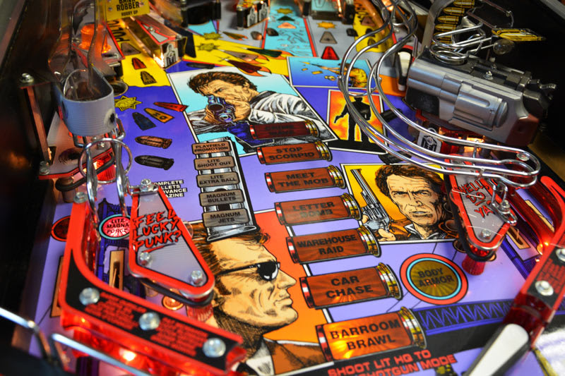 Dirty Harry Pinball Machine - Playfield
