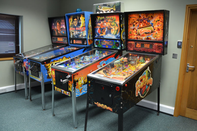 The Flintstones Pinball Machine - in Showroom