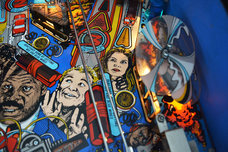 Lethal Weapon 3 Pinball Machine - Artwork Close-Up