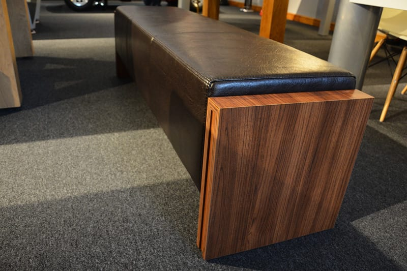 An image of 6ft Pool Table Bench - Walnut