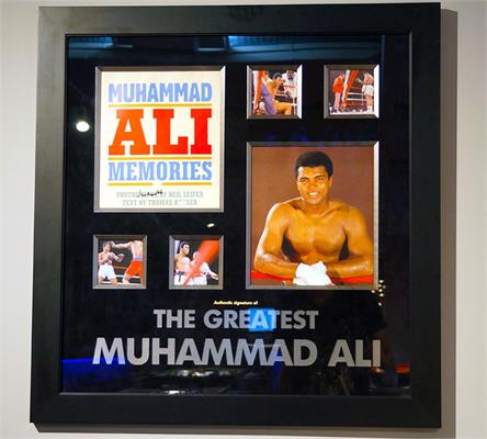 Muhammad Ali Signed Book Cover - Framed Display