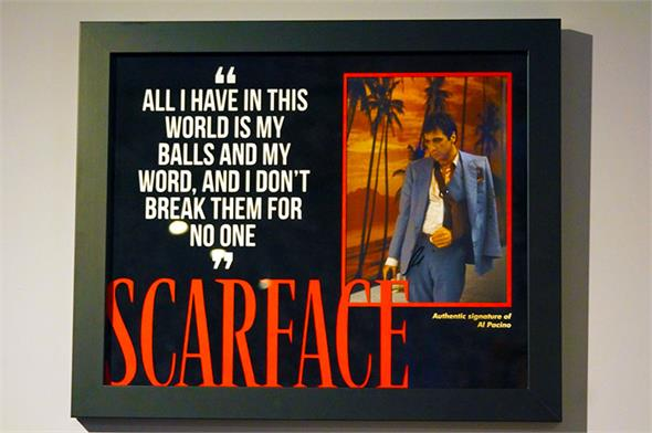 Al Pacino Signed Scarface Photo - Framed Display