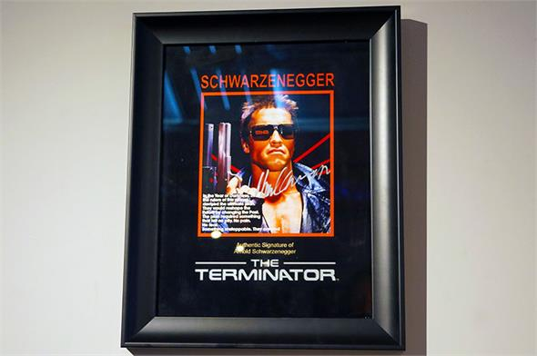 Arnold Schwarzenegger Signed 'The Terminator' Photo - Framed Display