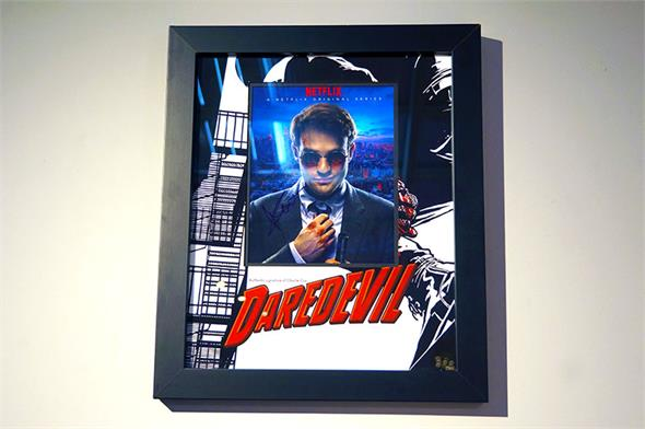 Charlie Cox Signed Daredevil Photo - Framed Display