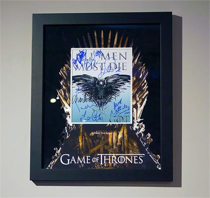 Game of Thrones Cast Signed Photo - Framed Display
